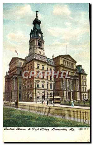 Carte Postale Ancienne Custom House Post Office Louisville Ky
