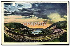 Carte Postale Ancienne Horseshoe Curve Pennsylvania Railroad
