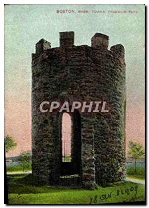 Carte Postale Ancienne Boston Mass Tower Franklin Park