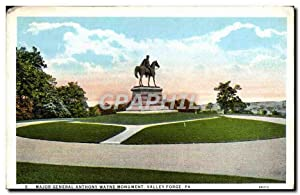 Carte Postale Ancienne Major Général Anthony Wayne Monument Valley Forge Pa