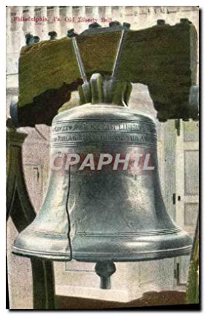 Carte Postale Ancienne Philadelphia Pa Old Liberty Bell