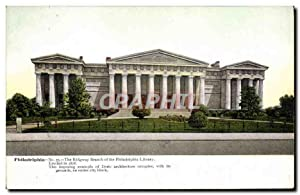 Carte Postale Ancienne Philadelphia The Ridgway Branch Of The Philadelphia Library Bibliotheque