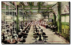 Carte Postale Ancienne Place In Philadelphia Pa Cafe