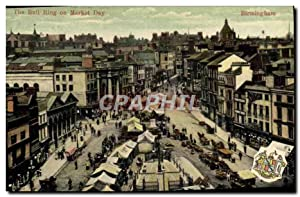Carte Postale Ancienne The Bull Ring On Market Day Birmingham