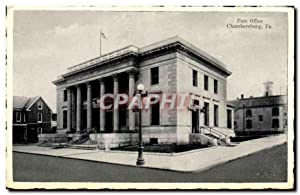 Carte Postale Ancienne Post Office Chambersburg Pa