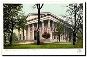 Carte Postale Ancienne Main Building Girard College Philadelphia Pa