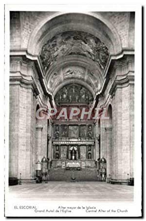 Carte Postale Ancienne El Escorial Altar mayor de la Iglesia