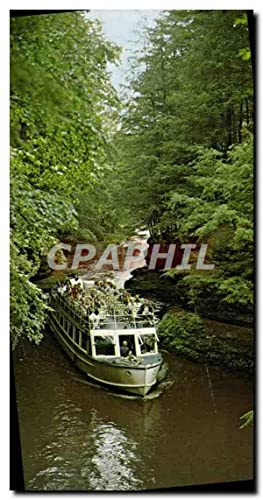 Carte Postale Moderne Through The Hole Riverview Boat Line Wisconsin Dells Wisconsin Bateau