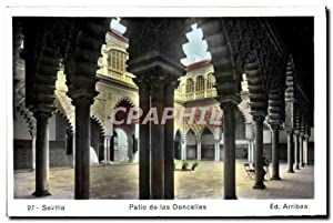 Carte Postale Ancienne Sevilla Patio de las Doncellas