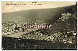 Carte Postale Ancienne Traben Trarbach a d Mosel Blick Vom Wolferberg