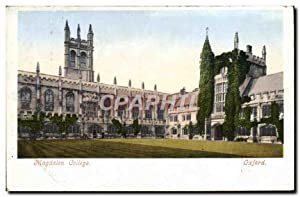 Carte Postale Ancienne Oxford Magdalen College