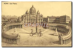 Carte Postale Ancienne Roma San Pietro