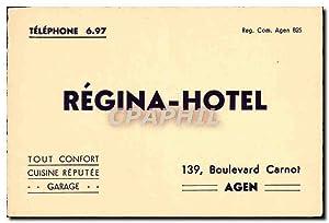 Carte De Visite Regina Hotel Boulevard Carnot