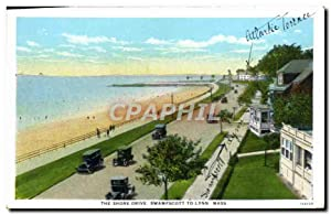 Carte Postale Ancienne The Shore Drive Swampscott To Lynn Mass
