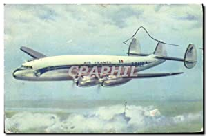 Carte Postale Ancienne Avion Aviation Air France Lockheed Constellation