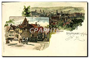 Carte Postale Ancienne Illustrateur Alstadt Stuttgart