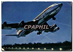 Carte Postale Moderne Avion Aviation Boeing 707B Intercontinental de la TWA