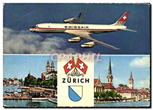 Carte Postale Moderne Avion Aviation Swissair Zurich
