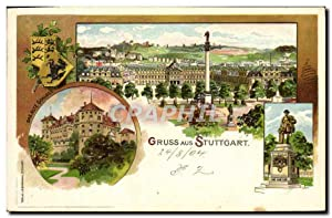 Carte Postale Ancienne Illustrateur Gruss aus Stuttgart