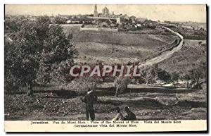 Carte Postale Ancienne Jerusalem vue Du Mont