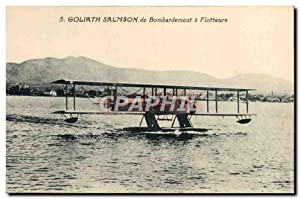 Carte Postale Ancienne Avion Aviation Goliath Salmson de bombardement a flotteurs Hydravion