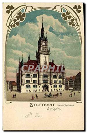 Carte Postale Ancienne Illustrateur Stuttgart Neues Rathaus