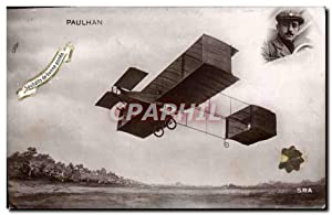 Carte Postale Ancienne Avion Aviation Paulhan