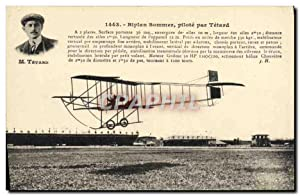 Carte Postale Ancienne Avion Aviation Bipan Sommer pilote par Tetard