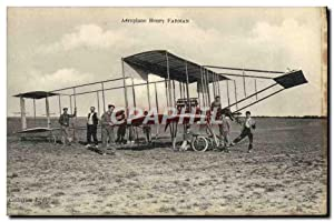 Carte Postale Ancienne Avion Aviation Aeroplane Henry Farman