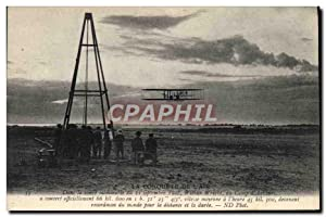 Carte Postale Ancienne Avion Aviation Wilbur Wright au camp d'Auvours