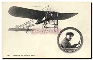 Carte Postale Ancienne Avion Aviation Barrier sur monoplan Bleriot