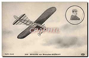 Carte Postale Ancienne Avion Aviation Morane sur monoplan Bleriot