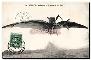 Carte Postale Ancienne Avion Aviation Avion de M Ader