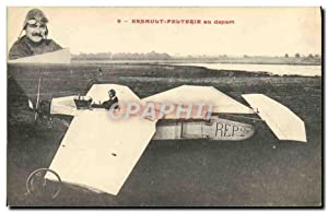 Carte Postale Ancienne Avion Aviation Esnault Pelterie au depart