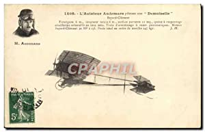 Carte Postale Ancienne Avion Aviation Aviateur Audemars pilotant une Demoiselle Bayard Clement