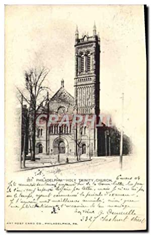 Carte Postale Ancienne Philadelphia Holy Trinity church