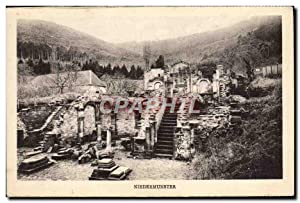 Carte Postale Ancienne Niedermunster