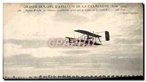 Carte Postale Ancienne Aviation Avion Grande semaine d'aviation de la Champagne Biplan Wright Com...