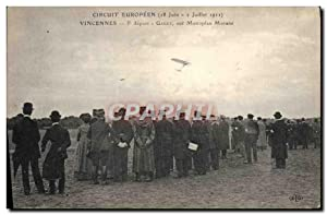 Carte Postale Ancienne Aviation Avion Circuit europeen 18 juin 2 juillet 1911 Vincennes 5eme depa...