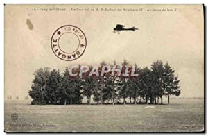 Carte Postale Ancienne Aviation Avion Camp de Chalons Un beau vol de Latham sur Antoinette IV au ...