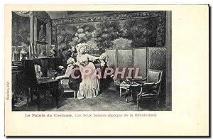 Carte Postale Ancienne Mode Coiffe Femme Palais