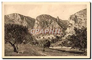 Carte Postale Ancienne Village De Moustiers Sainte Marie