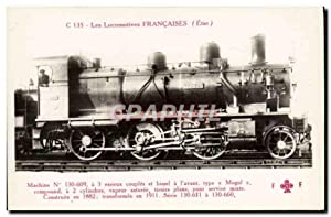 Carte Postale Ancienne Train Locomotive Machine 130 609