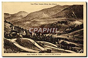 Carte Postale Ancienne Hate Vallée du Verdon Lacets du Col D'Allos