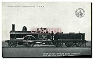 Carte Postale Ancienne Train Locomotive 3 cylinder compound engine experiment