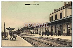 Carte Postale Ancienne Train Locomotive Gare