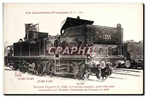 Carte Postale Ancienne Train Locomotive Machine Engerth 1 395