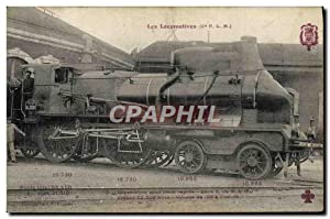 Carte Postale Ancienne Train Locomotive pour train rapide Serie 6