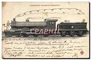 Carte Postale Ancienne Train Locomotive Machine du North Eastern Railway