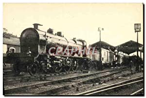 Carte Postale Ancienne Train Locomotive Reseau d'Orleans Sud Express Paris Bordeaux Madrid Lisbon...